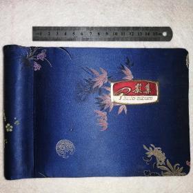 锦缎精装80年代老相册【内含61张老照片,部队生活]海鸥牌