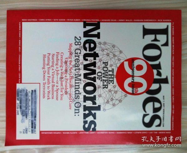 FORBES 福布斯 2007/05/7 英文原版商业经济财经杂志90周年纪念刊