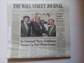THE WALL STREET JOURNAL 华尔街日报 2017/03/17   外文原版报纸 装饰道具