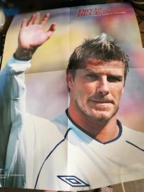 贝克汉姆,巴西2002世界杯夺冠双面海报
