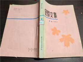 舒群文集(4)这一代人 春风文艺出版社 1982年1版1印 大32开平装