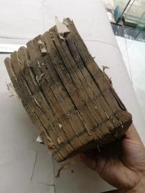 木刻,四书典制类联音注十一册。