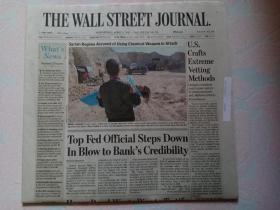 THE WALL STREET JOURNAL 华尔街日报 2017/04/05 外文原版报纸 装饰道具
