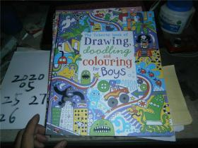 THE USBORNE BOOK OF DRAWING,DAADLING AND COLOURING FOR BOYS