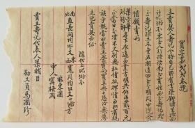 民国二十四(1935)年中人张东园等人落款《卖地契》毛笔信1份1页2面,用龙章号红格稿纸书写,书法漂亮,内容极有价值