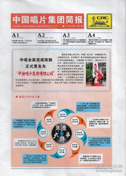 中国唱片集团简报