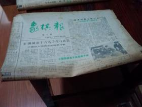 象棋报(第6-37期,中间缺34期,1983年10月16日-1985年2月1日)31期合售(每期八开四版)