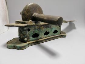 老中医世家祖传民国时期铜药碾子药撵子中医用具药材碾碎器