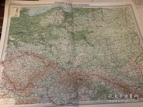 1922年捷克斯洛伐克地图