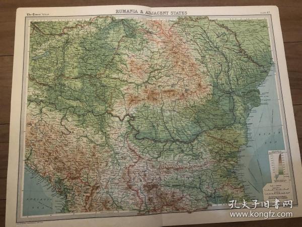 1922年罗马尼亚地图