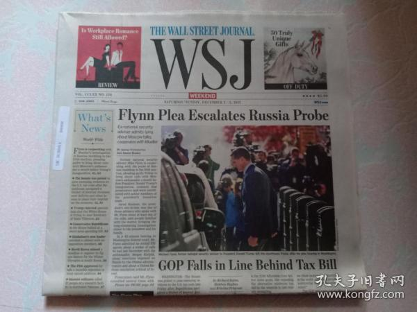 THE WALL STREET JOURNAL 华尔街日报周末版 WSJ 2017/12/2-3   外文原版报纸