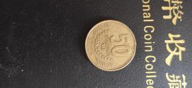 外国硬币哥斯达黎加50克隆满五十元包邮