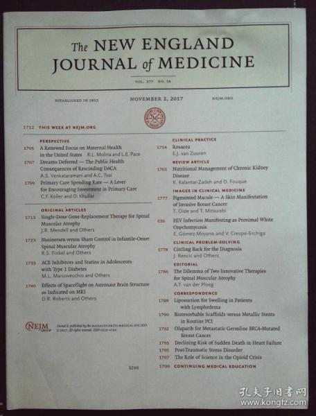 THE NEW ENGLAND JOURNAL OF MEDICINE 2017/11/2 英格兰医学杂志