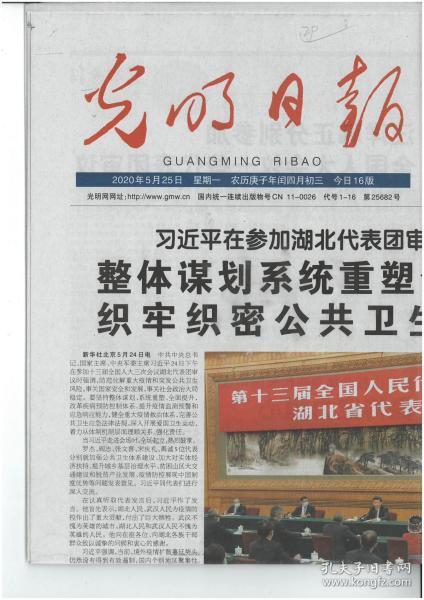光明日报2020年5月25日