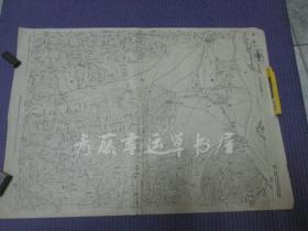 民国地图:一张(民国三十四年印刷)