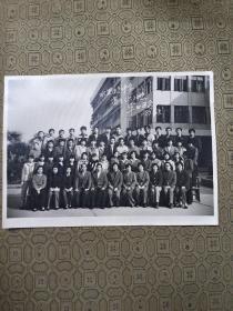 水果湖中学高三(六)班毕业留影 1987年 ,后面有每个同学签名