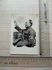 老照片,接待红卫兵毛主席挥手,大张照片,尺寸图为准