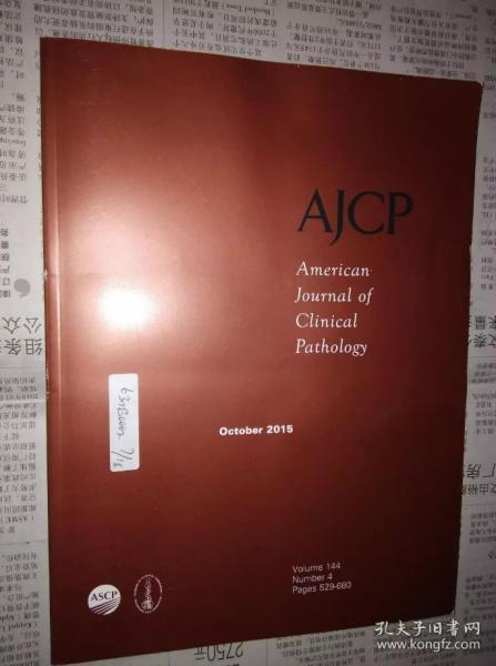 American Journal of Clinical Pathology AJCP 攻学杂志 2015/10