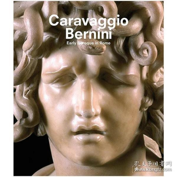 现货:正版Caravaggio and Bernini 卡拉瓦乔和贝尼尼 罗马巴洛克风格 英文原版画册艺术图书