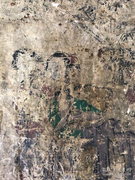 木版年画一幅,清代。