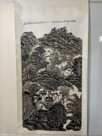 朱松发 六尺山水……卷轴