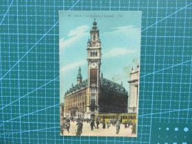 {会山书院}94#世界各国百年欧洲风情-钟楼大街-手写英文明信片
