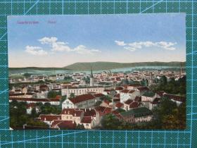 {会山书院}96#世界各国百年欧洲风情-城市全景-手写英文明信片