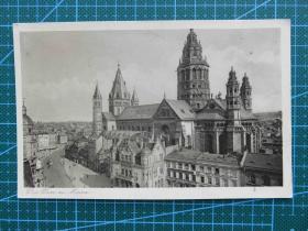 {会山书院}97#世界各国百年欧洲风情-古城堡-手写英文明信片