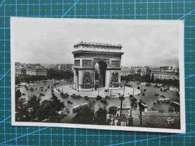 {会山书院}100#世界各国百年欧洲风情-凯旋门照片-手写英文明信片
