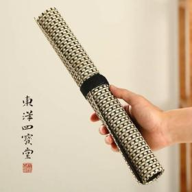日本进口吴竹笔卷 中号笔帘文房四宝毛笔用轻薄透气耐折日本笔卷