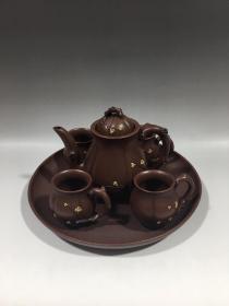 宜兴紫砂壶梅花套壶