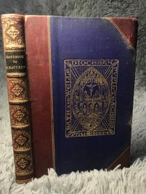 1900年  HANDBOOK TO THE GOSPEL ACCORDING TO S. MATTHEW  4/3真皮装帧  饰金封面  三面书口刷金