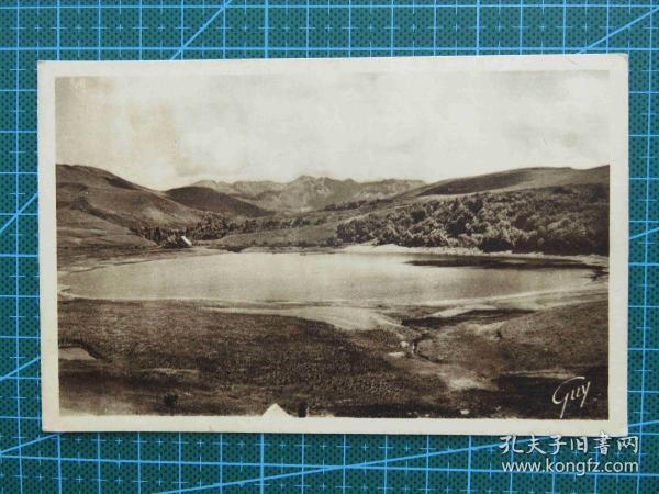 {会山书院}88#世界各国百年欧洲风情-堰塞湖-手写英文明信片