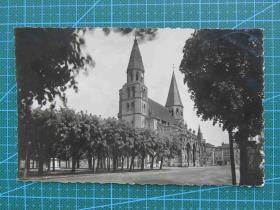 {会山书院}103#世界各国百年欧洲风情-双尖建筑街道照片-手写英文明信片