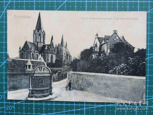 {会山书院}104#世界各国百年欧洲风情-教堂-手写英文明信片