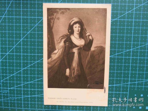 {会山书院}111#世界各国百年欧洲风情-披头女孩-手写英文明信片
