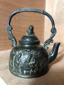 铜壶一个,工好,全品长11厘米,高12厘米