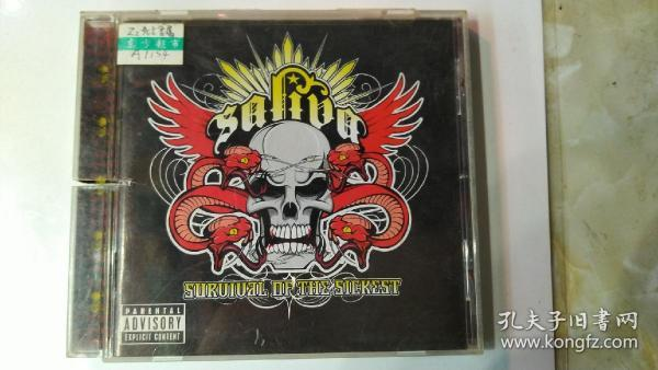 A1154  Survival Of The Sickest saliva 打口CD