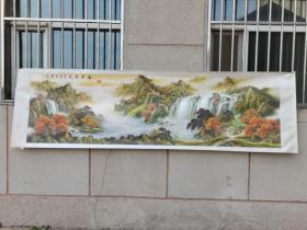 手工画,山水画,风景画(长大约三米左右)