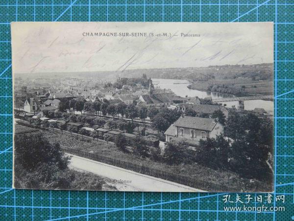 {会山书院}102#世界各国百年欧洲风情-河边城市-手写英文明信片