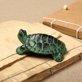 动物龟镇乌龟镇尺镇纸铸铁金属实心 文房毛笔书法小摆件 可爱学生