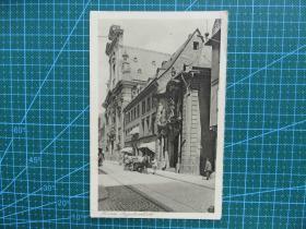 {会山书院}105#世界各国百年欧洲风情-城中大街-手写英文明信片