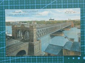 {会山书院}107#世界各国百年欧洲风情-大铁桥-手写英文明信片