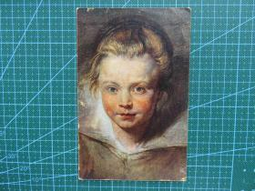 {会山书院}112#世界各国百年欧洲风情-女孩-手写英文明信片