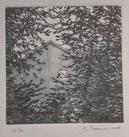 日本 Shigeki Tomura 版画藏书票原作3精品收藏尺寸(14.5*19.1cm)
