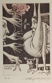 杜桑·波拉科维奇(Dusan Polakovic )版画藏书票原作5精品收藏