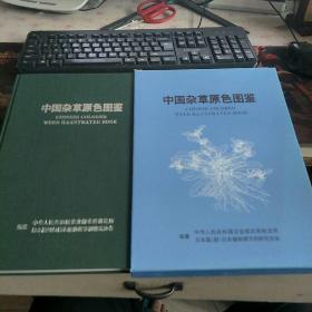 中国杂草原色图鉴(中日英文对照)小8开本布面精装!全彩图