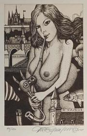 杜桑·波拉科维奇(Dusan Polakovic )版画藏书票原作4精品收藏
