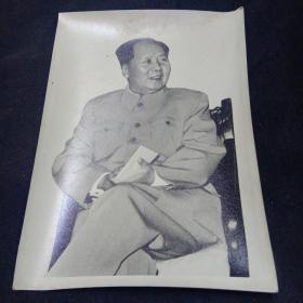 老照片。毛主席。