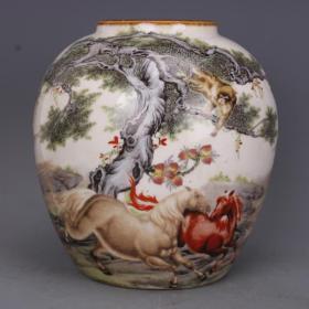 大型瓷器罐子高15厘米
